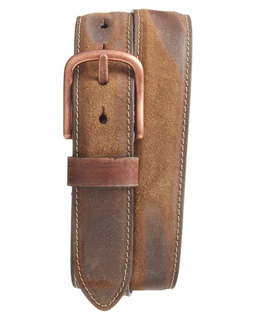 torino leather company leather belt in brown for lyst