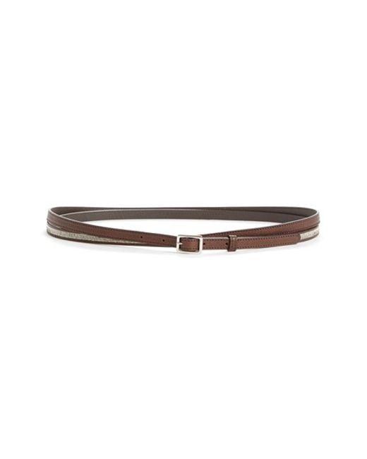 fabiana filippi mollini trim leather wrap belt in brown lyst