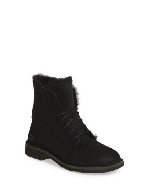 Ugg | Black Quincy Suede Ankle Boots | Lyst