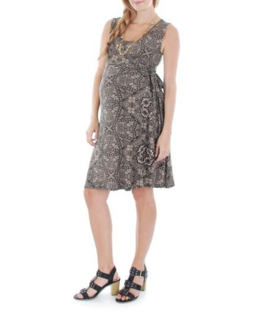 Everly Grey | Multicolor 'tania' Sleeveless Maternity/nursing Wrap Dress | Lyst