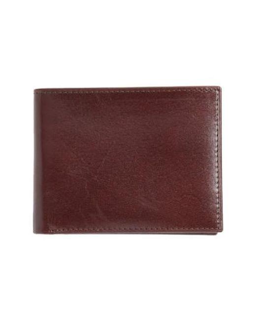 Johnston & Murphy | Brown Slimfold Leather Wallet - Burgundy for Men | Lyst