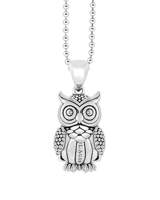 Lagos | Metallic 'rare Wonders - Owl' Long Talisman Necklace | Lyst
