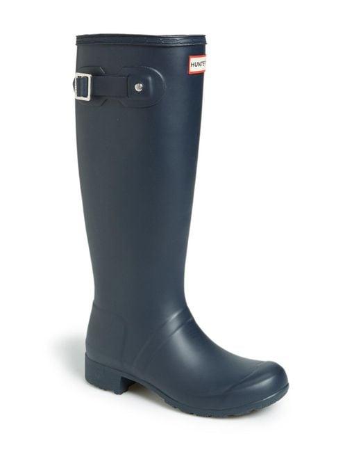 Hunter - Tour Packable Waterproof Rain Boot, Blue - Lyst
