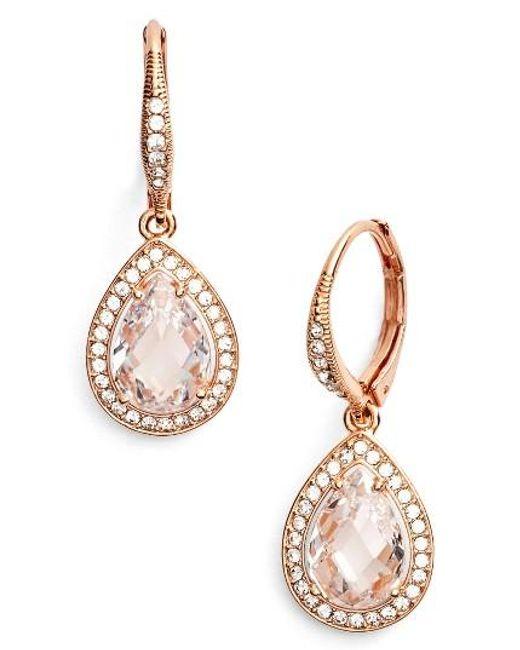 Nadri | Metallic Pear Drop Earrings (nordstrom Exclusive) | Lyst