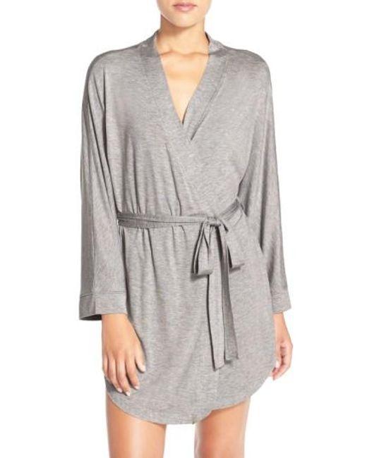 Honeydew Intimates | Gray Jersey Robe | Lyst