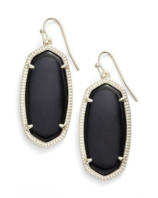 Kendra Scott | Black 'elle' Drop Earrings | Lyst