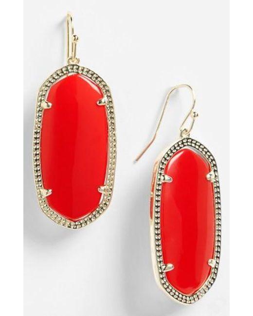 Kendra Scott | Red 'elle' Drop Earrings | Lyst