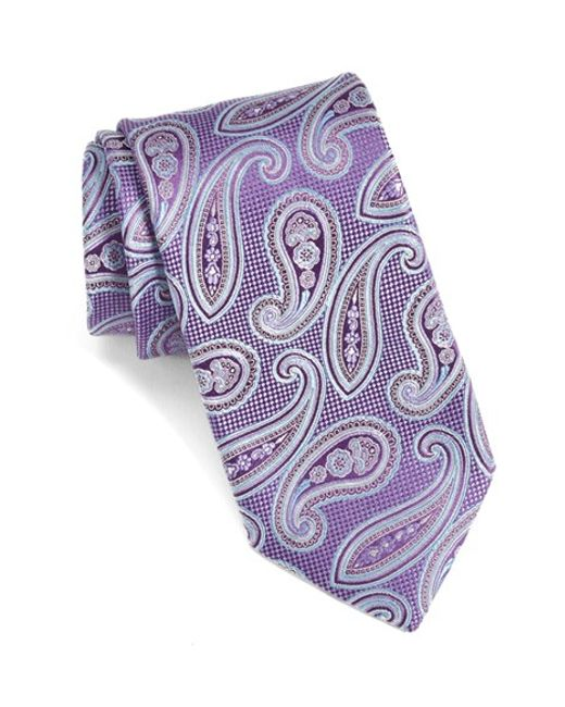 John W. Nordstrom | Purple Melbourne Paisley Silk Tie for Men | Lyst