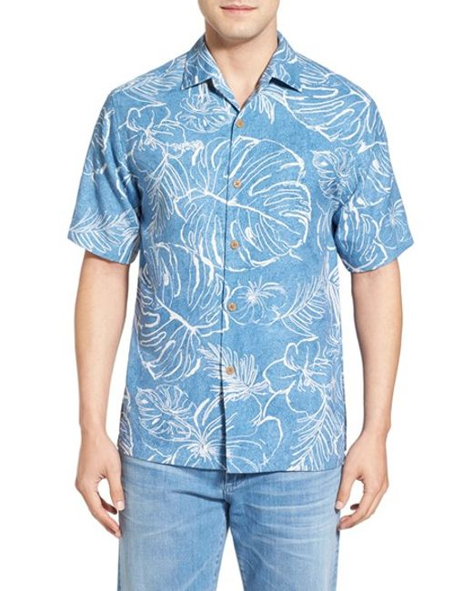 Tommy bahama 39 fairweather fronds 39 original fit silk blend for Tommy bahama catalina twill silk camp shirt