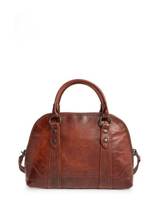 Frye | Brown 'Melissa' Domed Leather Satchel | Lyst