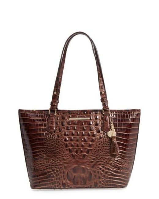 Brahmin | Brown 'medium Asher' Leather Tote | Lyst