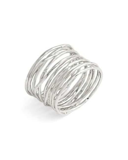 Gorjana   Metallic 'lola' Coil Ring   Lyst