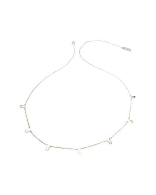 Melanie Auld   Metallic Bar Collar Necklace   Lyst