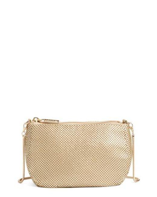 Whiting & Davis | Metallic Matte Mesh Cross-Body Bag | Lyst