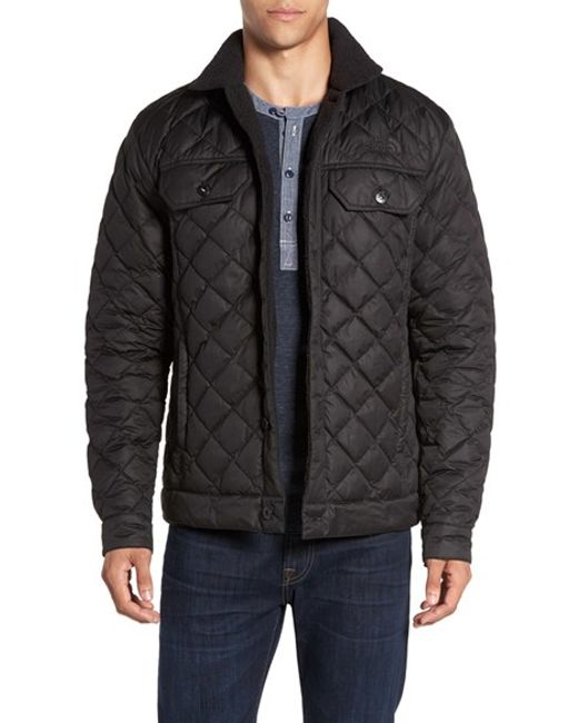 The north face Sherpa Fleece Lined Quilted Jacket in Black ...