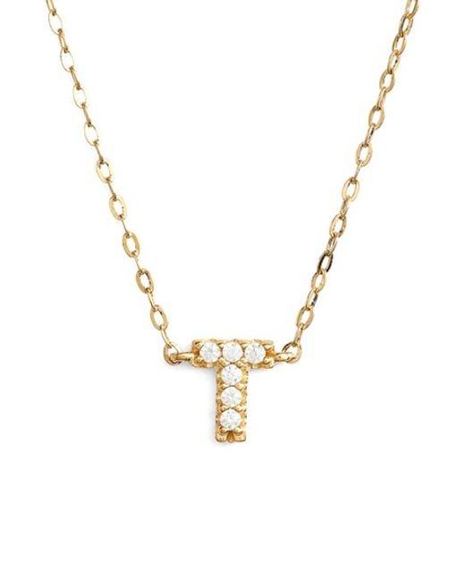 Nadri initial pendant necklace traumspuren nadri cubic zirconia initial pendant necklace in gold t aloadofball Choice Image