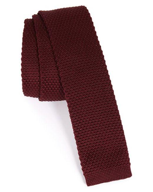 TOPMAN | Textured Knit Tie for Men | Lyst