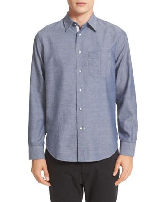 Rag & Bone | Blue Beach Trim Fit Sport Shirt for Men | Lyst