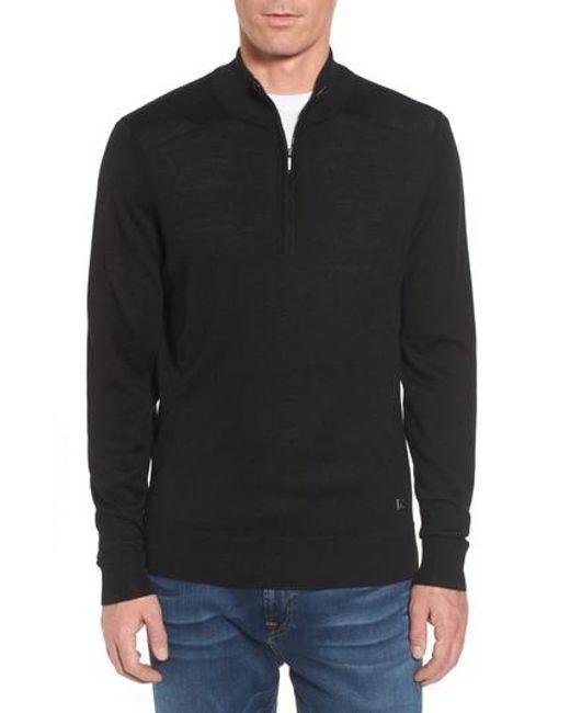 Smartwool - Black Kiva Ridge Merino Wool Blend Pullover for Men - Lyst