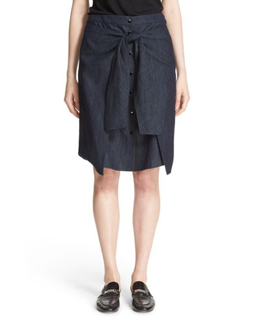 rag bone nadine denim skirt in blue lyst