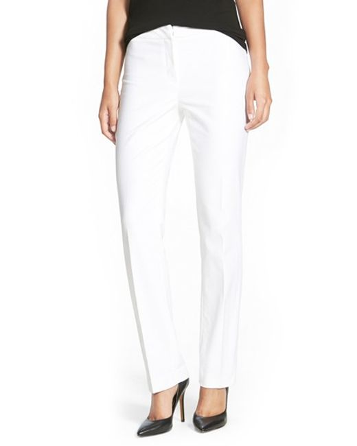 NIC+ZOE | White The Perfect Pants | Lyst