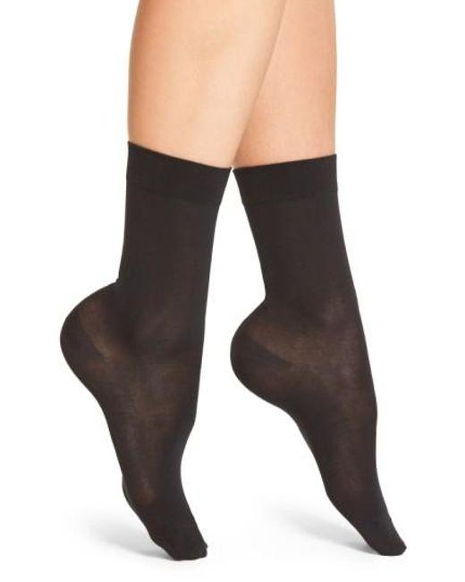 Falke | Black Cotton Blend Trouser Socks | Lyst
