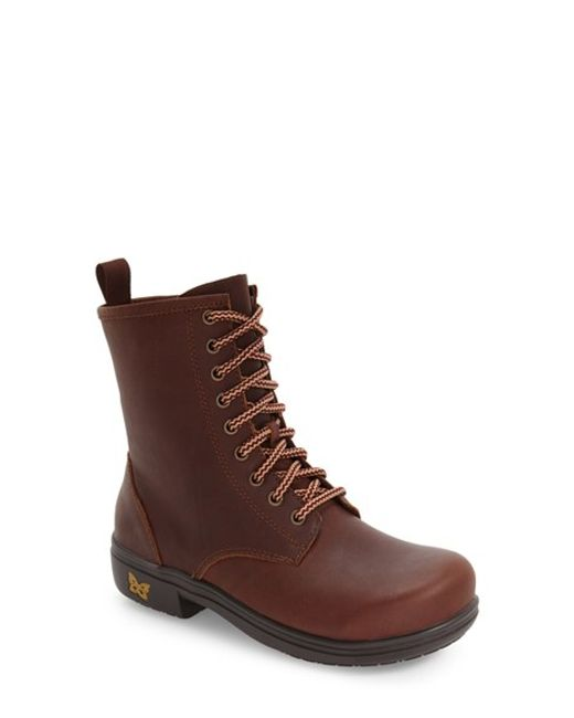 Alegria | Brown Ari Combat Boot | Lyst