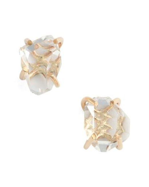 Melissa Joy Manning   Metallic Herkimer Stud Earrings   Lyst