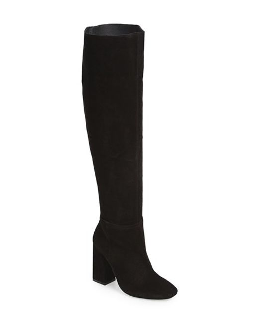 Free People | Black 'liberty' Over The Knee Boot | Lyst