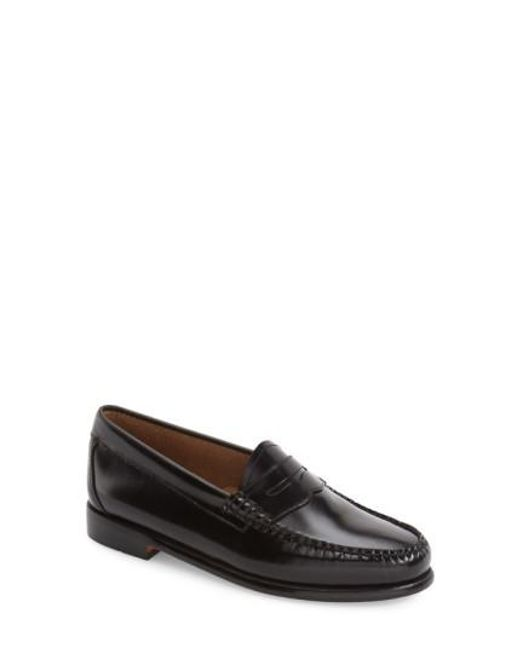 G.H. Bass & Co. | Black 'whitney' Loafer | Lyst