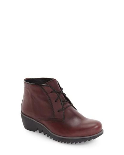 Wolky | Black 'Dusty' Hidden Wedge Boot | Lyst