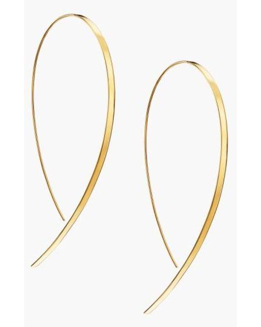 Lana Jewelry   Yellow 'hooked On Hoop' Large Flat Earrings   Lyst