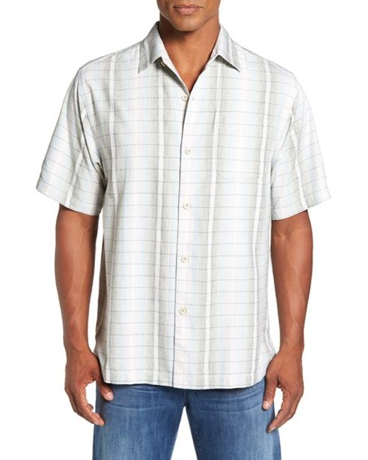 Tommy Bahama 39 Ombre Garcia 39 Silk Blend Camp Shirt In White
