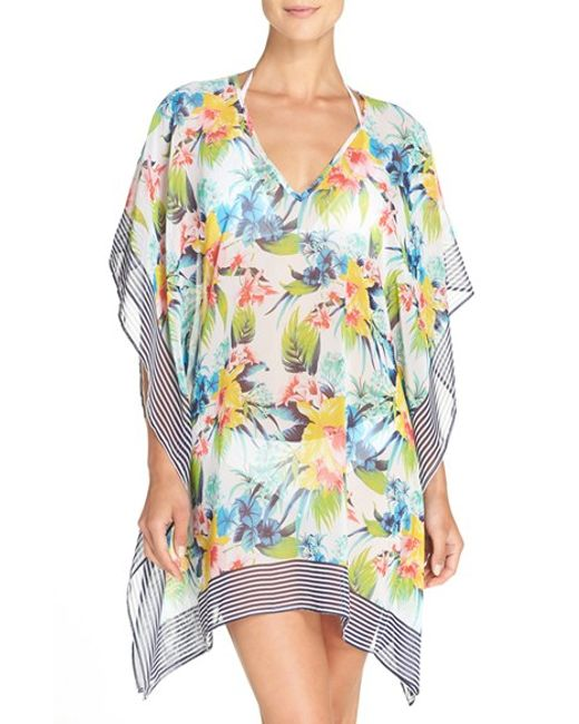 Tommy Bahama Floral Print Cover Up Tunic In White Lyst