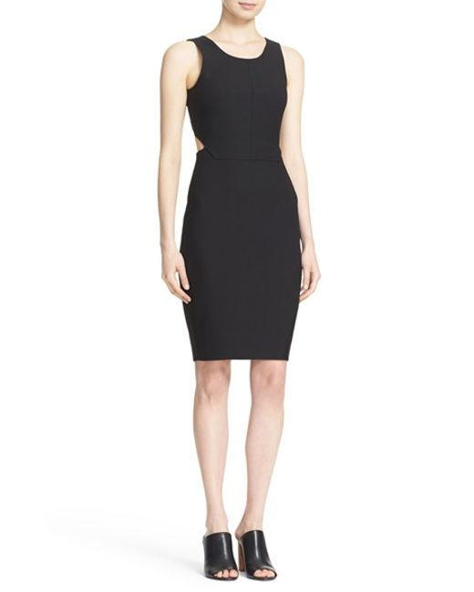 Elizabeth and James | Black 'emmy' Cutout Back Sheath Dress | Lyst