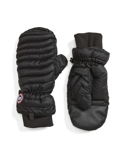 Canada Goose Lightweight Quilted Mittens In Black Lyst