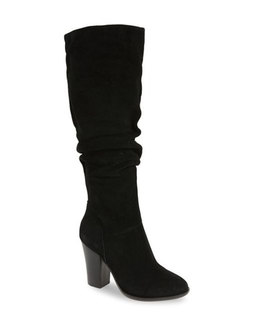 steve madden nevadaaa knee high suede boots in black lyst