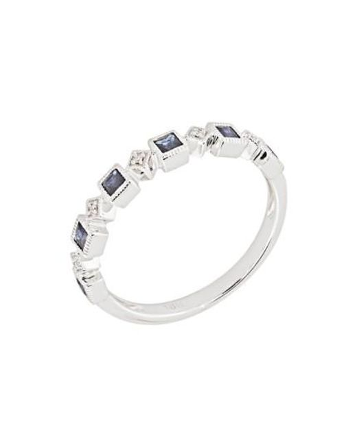 Bony Levy | Metallic Stackable Diamond & Sapphire Band Ring (nordstrom Exclusive) | Lyst