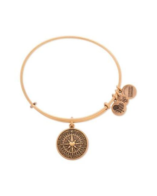ALEX AND ANI | Metallic 'true Direction' Adjustable Wire Bangle | Lyst