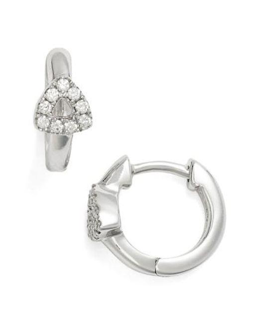 Dana Rebecca | Metallic Open Triangle Hoop Earrings | Lyst