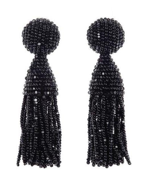 Oscar de la Renta   Black 'classic Short' Tassel Drop Earrings   Lyst