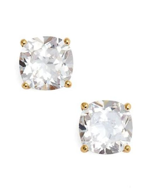 Kate Spade | Metallic Mini Square Stud Earrings | Lyst