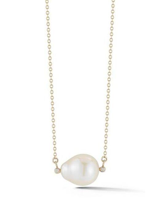 Mizuki | White Pearl Pendant Necklace | Lyst