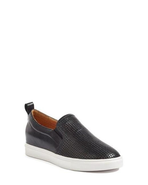 Caslon   Black Caslon Eden Perforated Slip-on Sneaker for Men   Lyst