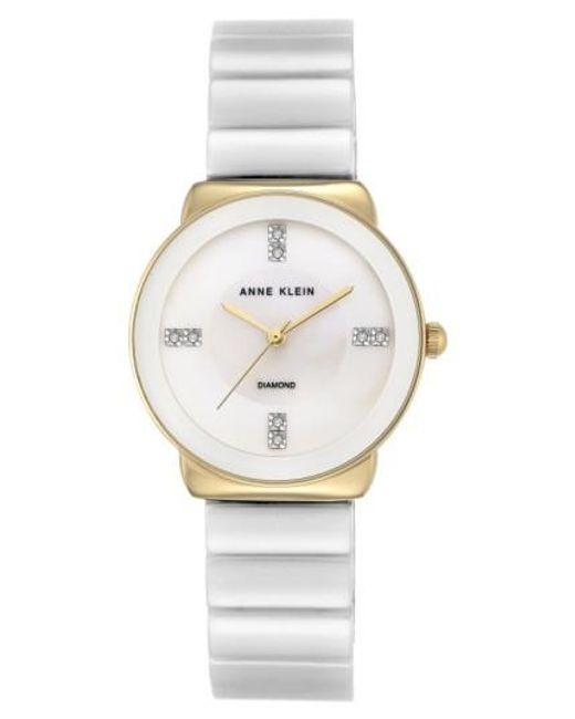 Anne Klein   Metallic Bracelet Watch   Lyst