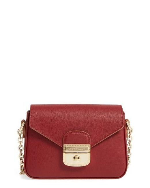 Longchamp | Red Small Le Pliage Heritage Leather Crossbody Bag | Lyst