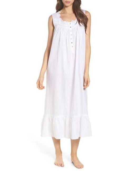 Eileen West | White Cotton Nightgown | Lyst