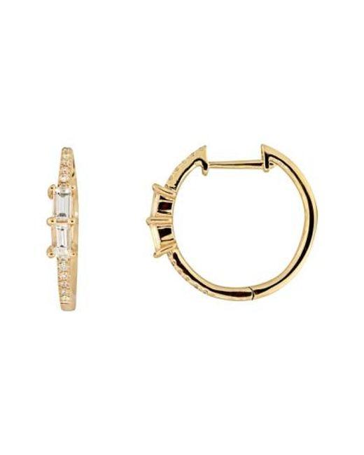 Bony Levy   Metallic Diamond Hoop Earrings (nordstrom Exclusive)   Lyst