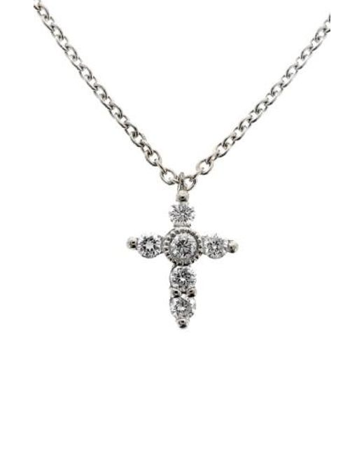 Bony Levy | Metallic Diamond Mini Cross Necklace (nordstrom Exclusive) | Lyst