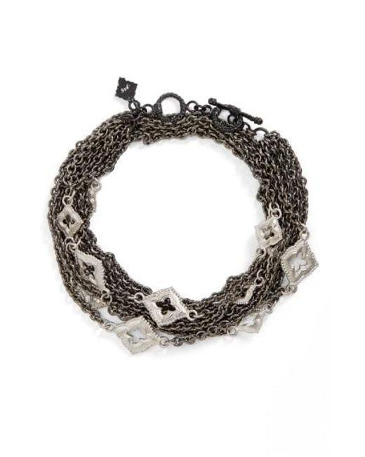 Armenta | Black New World Double Wrap Scroll Bracelet | Lyst